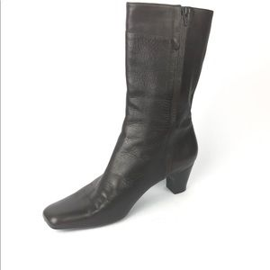 Cole Haan Womens Dress Leather Bootie  8 Medium